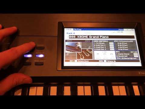 Keys Transpose - Korg Krome