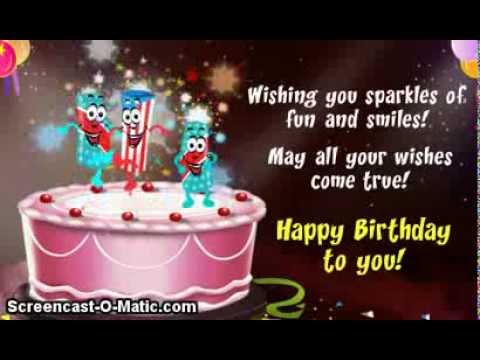 Happy Birthday Video Card Cake w Dancin Candles – Happy Birthday Cake Greetings