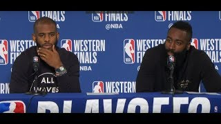 James Harden & Chris Paul Postgame Interview | Rockets vs Warriors Game 4