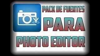 PACK DE FUENTES PARA PHOTO EDITOR