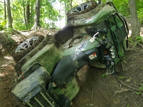 ATV Tips Over - Brute Force 750 Trail Riding