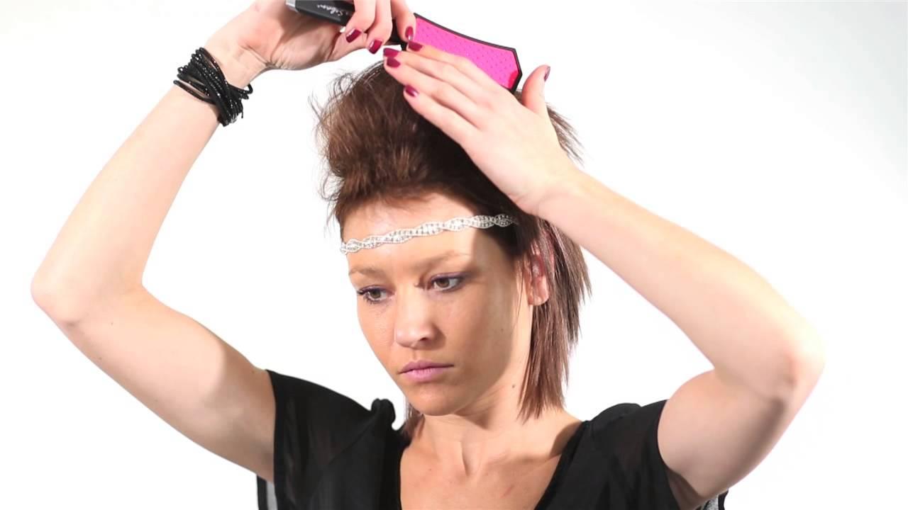 Tutoriel coiffure rock cheveux courts