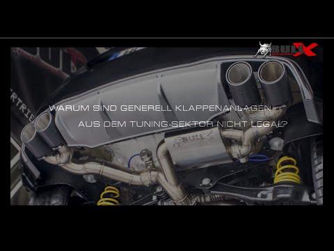 Klappenauspuff mit Bull-X Tronic legal - Erklärungsvideo Sportauspuff Klappenabgasanlage