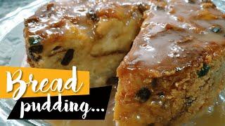 Bread Pudding - How to Make Bread-Pudding with Sauce   Cuban Recipe   Pundín o Budín de Pan Cubano