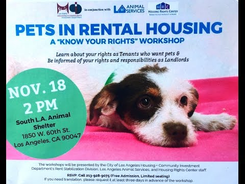 Los Angeles Pets in Rental Housing - Know Your Rights