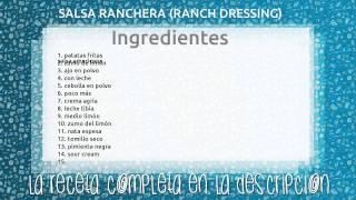 SALSA RANCHERA (RANCH DRESSING)