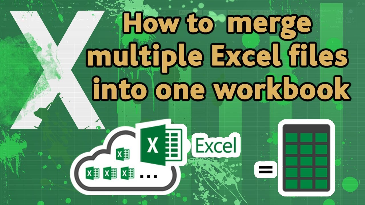 Workbooks how to merge workbooks in excel 2010 : How to merge multiple excel files into one workbook? - YouTube