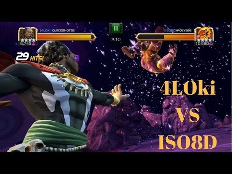 Tier 1 Alliance War 4LOki vs ISO8D Path 2 + 5 star crystal