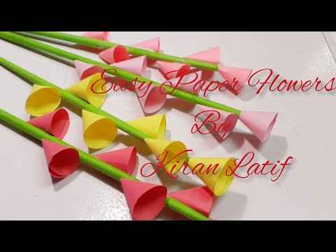 2 min Paper Flower Tutorial| Easy and beautiful paper flower making | DIY paper flower craft