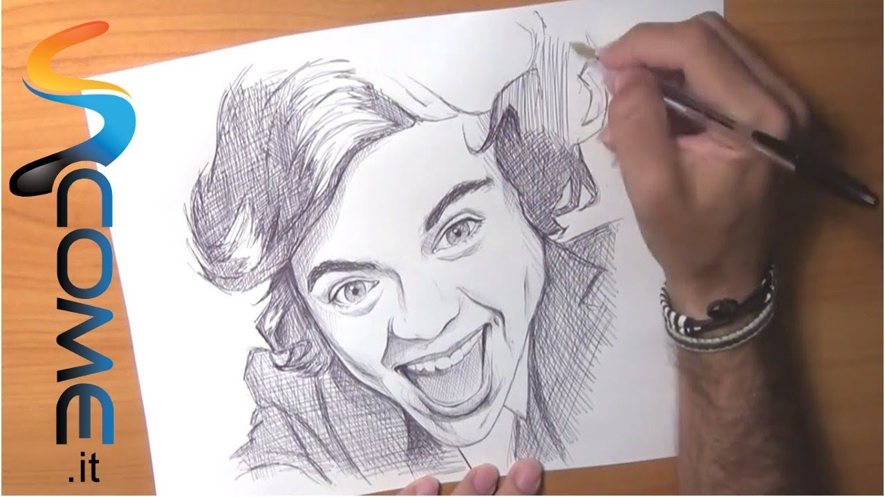 Impara a disegnare harry dei one direction youtube for Disegni disney facili da disegnare