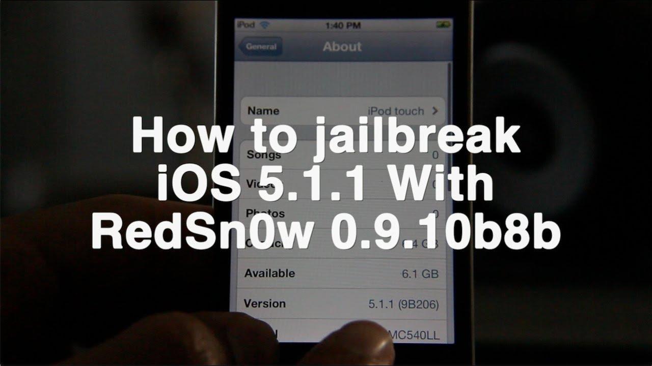 Jailbreak iOS 5 1 1 with RedSn0w