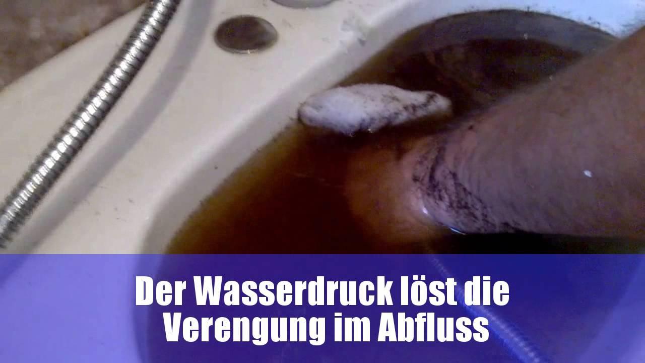 Unglaublich Abfluss Reinigen Hausmittel Galerie Von Waschbecken Ft? Mit (wasserdruck) Den - Youtube