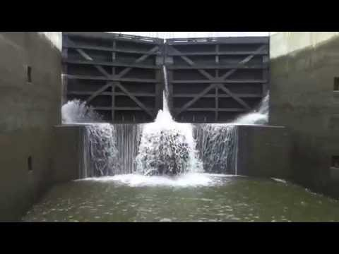 Erie Canal Locks Time Lapse HD Video