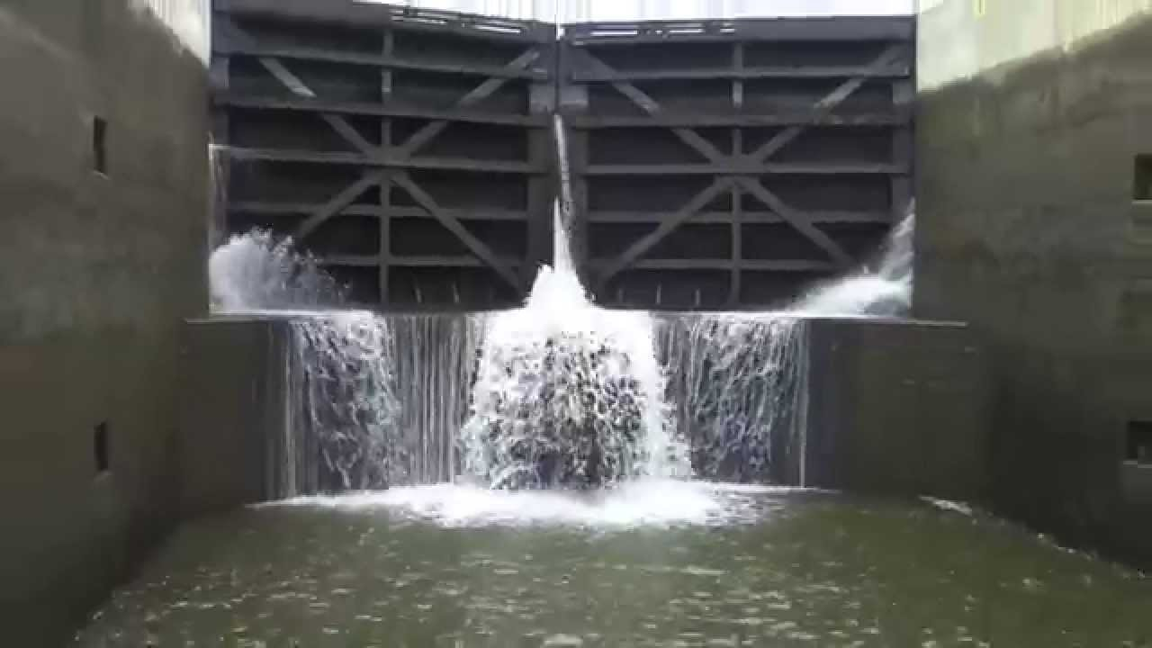 Erie Canal Locks Time Lapse HD Video  YouTube
