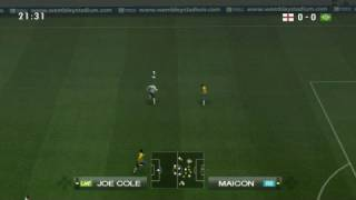 Pro Evolution Soccer 2009 Rain Demo England vs Brazil
