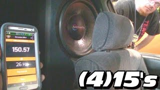 TINY CAR... HUGE BASS!  JP & Crescendo Listen to Audio Enthusiast WALLED OFF 4 15