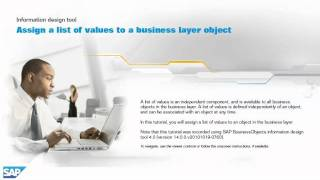 Assign a list of values to a business layer object: Information design tool 4.x