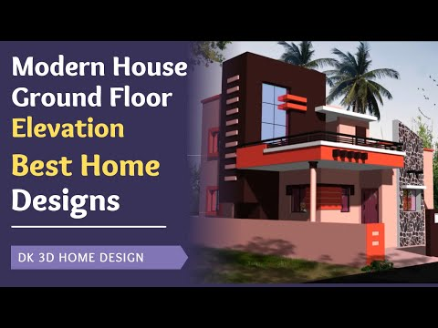 Ground floor house elevations idea youtube for Simple house elevation models