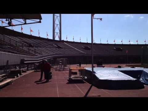 Inside the Olympic Stadium in Amsterdam