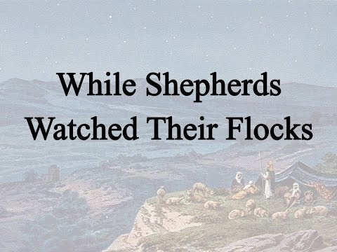 While Shepherds Watched Their Flocks (Hymn Charts with Lyrics, Contemporary)