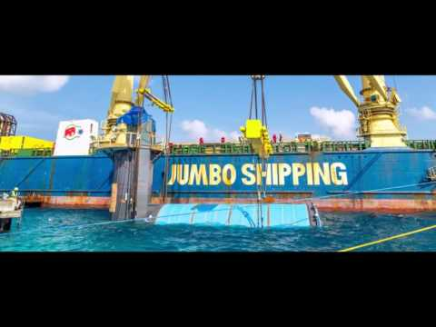 Jumbo Heavy Lift Shipping MV Fairlane Delivers World's Largest Underwater Restaurant in the Maldives