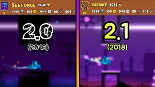 2.0 VS 2.1 | Geometry Dash : Ultra Game & Wonder Game (Original 2016 / Remake 2018)