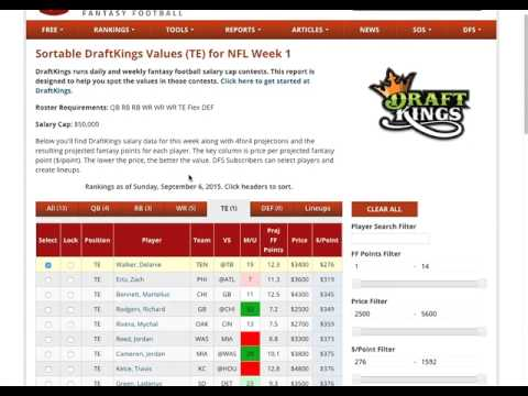 Fanduel and draftkings essays