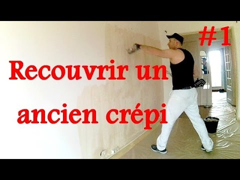 Lisser un mur cr pi 1 3 youtube for Recouvrir crepi exterieur