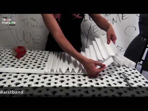 Quick and Easy Accordion-Fold Paper Skirt