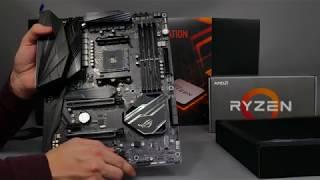 Asus Crosshair VII Hero AMD X470 AM4 Ryzen 2nd Gen motherboard unboxing