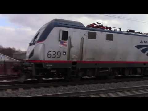 Jersey Avenue Railfanning 12/9/16