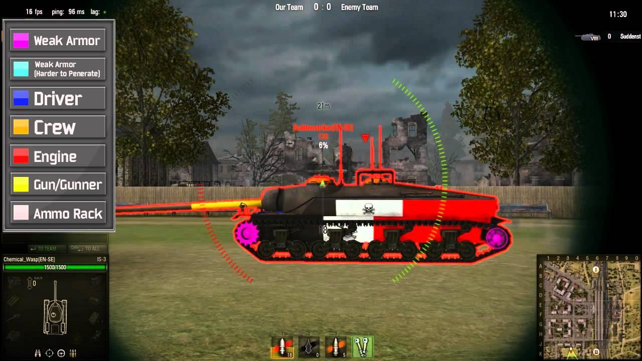 world of tanks blitz mod pack weak spots