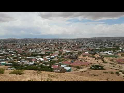 Amazing mountain view Hargeisa city. May 2017.