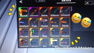 Demasiadas armas y dagas... (Roblox Silent Assassin Trade Hub)