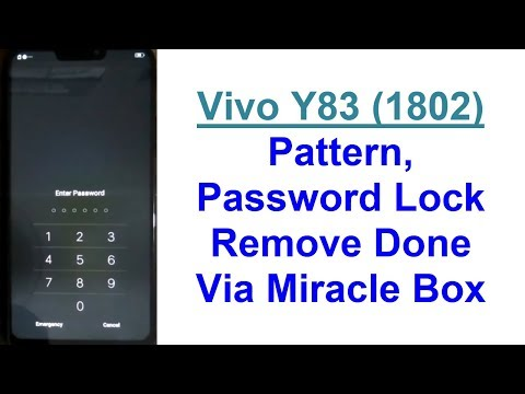 Vivo Y83 (1802) Phone Pattern, Pin & Password Lock Remove