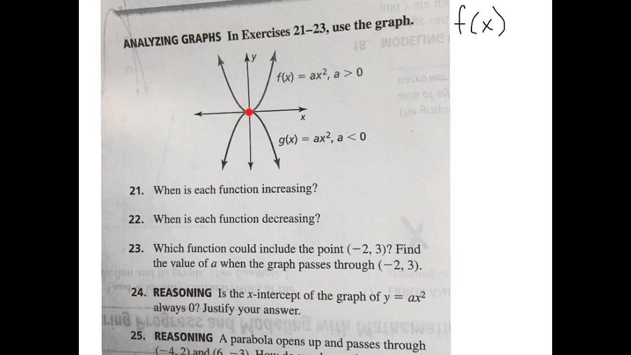 Intervals Of Increasing And Decreasing Of Quadratic