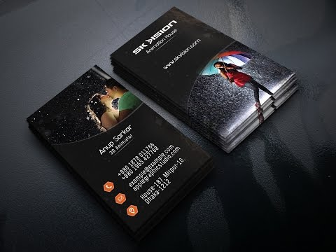 How to make a Modern Business Card Design | Photoshop Tutorial