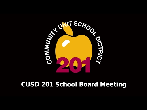 2017-01-24 Community Unit School District 201 Board Meeting