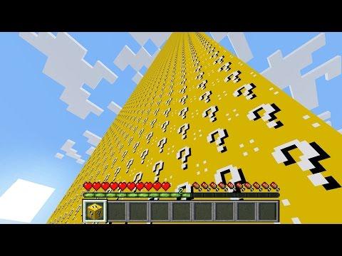 СЛОМАЛ 10000 ЛАКИ БЛОКОВ ~ ГИГАНТСКИЙ СТОЛБ ИЗ ЛАКИ БЛОКОВ В МАЙНКРАФТ | LUCKY BLOCKS IN MINECRAFT - Видео из Майнкрафт (Minecraft)