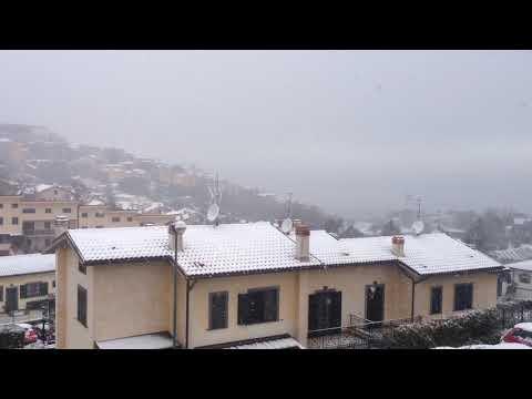 Neve monte porzio Catone 2018