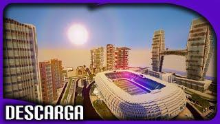 La mejor Ciudad en Minecraft + Descarga | Casas Modernas, Estadio de Fútbol y más! Make ur House#11
