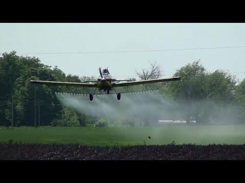 Crop Dusting Plane at Work