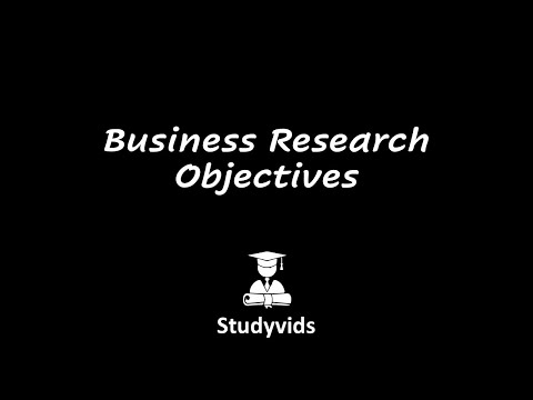 N0602A Business Research Objectives - YouTube