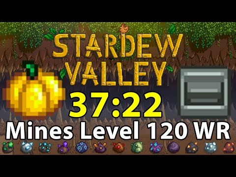 Stardew Valley World Record Speedrun Mines%   37:22   Fastest Mines Level 120   Bottom of the Mines