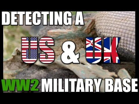 Metal Detecting a US & UK WW2 Military base:  Metal detecting UK # 108