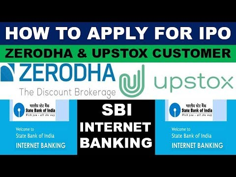 How to apply IPO Using SBI Bank (ASBA) | ZERODHA | UPSTOX | How to Apply POLYCAB IPO Online