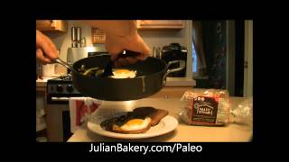 Almond Paleo Sandwich With Egg & Asparagus