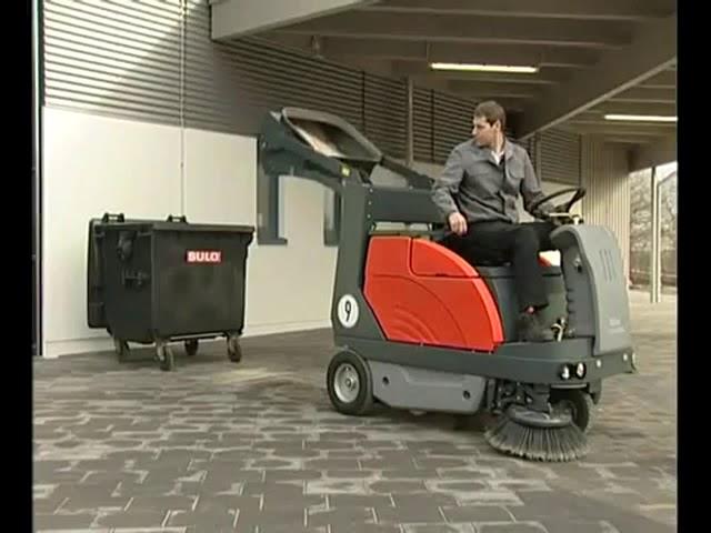 Hako Sweepmaster 1200 Heavy Duty Ride on Industrial Floor Sweeper.