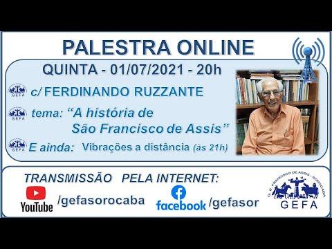 Assista: Palestra Online - c/ FERDINANDO RUZZANTE (01/07/2021)