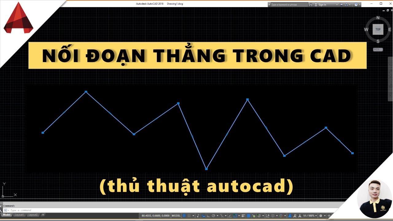 Nối liền các đoạn thẳng trong Autocad – Lệnh Join, PEdit // video học autocad // thuan quang